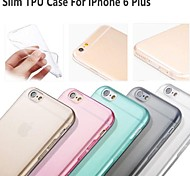 "Hot Selling Ultra Thin Style Soft Flexible Transparent  TPU Case for iPhone 6 Plus 5.5"" - (Assorted Colors)"