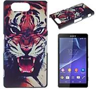 Fierce Tiger Pattern PC Hard Case for Sony Xperia Z3 mini D5803 M55w
