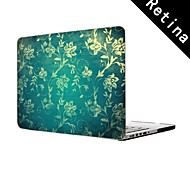 "Vintage Floral Wall Design Full-Body Protective Plastic Case for 13""/15"" MacBook-Pro with Retina Display"