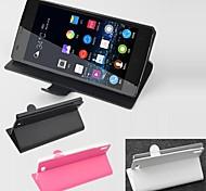 vendita calda cassa di cuoio dell'unità di elaborazione del cuoio di vibrazione 100% per Gionee elife S5.5 (colori assortiti)