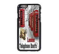 Telephone Booth Design Aluminum Hard Case for iPhone 6