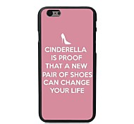 Elonbo® Cinderella Is Proof That A New Pair of Shoes Can Change Your Life Plastic Hard Back Cover for iPhone 6