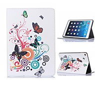 Butterfly Design Leather Case with Stand for iPad Air 2