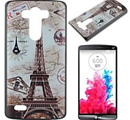 Maps and the Eiffel Tower Pattern PC Hard Case for LG G3