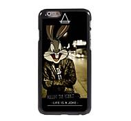 Follow The Rabbit Design Aluminum Hard Case for iPhone 6 Plus