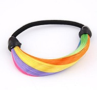 European Style Fluorescent Color Wig Hair Rubber Band Hair Ties