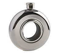 Stainless Steel Special Circular Pocket Liquor Flask (5.0 oz)