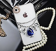Princess Necklace with  Diamond Hard Back Cover  for iPhone 4 / iPhone 4S