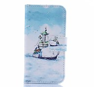 Sea Shipping Pattern U Leather Cover with Stand and Card Slot for Samsung Galaxy S4 Mini I9190