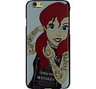 The Fahion Red Hair Girl Pattern PC Hard Back Cover Case for iPhone 6