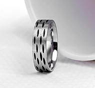 Lureme®Fashion Men's Titanium Steel Black Points Ring