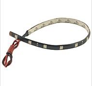 carking ™ 5050-12smd-30cm impermeable del coche lámpara decorativa strip-negro (4 piezas)
