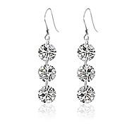 Fashion Silver Sterling Silver Temperamental Bride  Drop Earrings