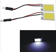 Carking™ T10 / BA9S / Festoon 28mm~40mm 2.5W 18-COB LED White Car Interior Dome Light(2PCS)