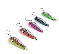 5g Spoons Metal Lures Fising Lures (5pcs/pack / Mixed Colors)