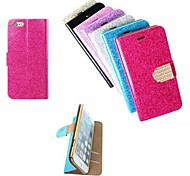 Sparkle Pattern PU Leather Full Body Case with Card Slot And Stand for iPhone 6 (Assorted Colors)