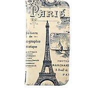 retro Turm Muster PU-Leder Ganzkörper-Case für iPhone 5 / 5s