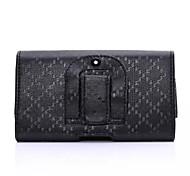 Fashion Plaid Stria Back Splint PU Waist Bag for iPhone 6