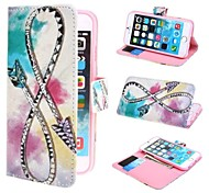 Snake Rope Wallet PU Leather Case with Stand and Card Slot for iPhone 6