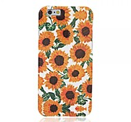 Sunflowers Pattern Solid Color TPU Protective Case for iPhone 6