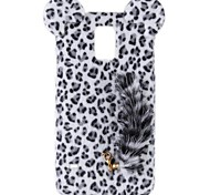 Sexy Leopard Print Pattern Protective Plastic Back Case with Tail for Samsung Galaxy S5 (Assorted Colors)