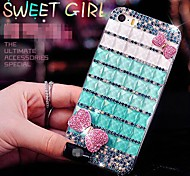 Gelatin Dessert Bowknot with Diamond Hard Back Cover  for iPhone 4 /  iPhone 4S