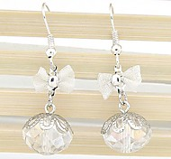 Exquisite Fashion Crystal Bow Earrings