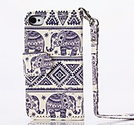 Elephants Pattern PU Full Body Case with Card Slot and Stand  for iPhone 4/4S