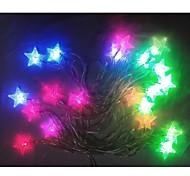 20-LED 4M Waterproof Christmas Decoration Sea Star Shape RGB Light LED String Light (220V)