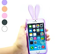 Rabbit Ear Design TPU Soft with Case for iPhone 6 Plus