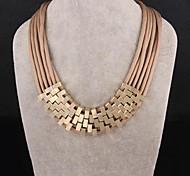 moda multicamadas corda colar de ouro