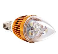 Bombillas Vela Regulable E14 3 W 3 LED de Alta Potencia 270 LM Blanco Natural AC 100-240 V