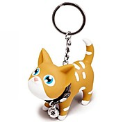 Lovely Silicone Small Orange Cat KeyChain