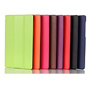 8 Inch Three Folding Pattern  PU Leather Case for Lenovo Tab S8-50 (Assorted Colors)