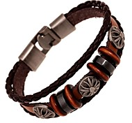 Z&X®  Vintage Punk Hand Made Leather Strand Bracelets
