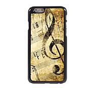 Retro-Design-Musik-Muster Aluminium Hard Case für iPhone 6 Plus