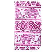 rosa Elefanten Muster Ganzkörper-Case mit Ständer für iPhone 4 / 4S