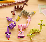 Fashion Cable Winder Cute fashion long animal Winder headphone cable management hubs Random Patterns