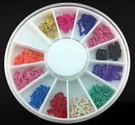 12 couleurs chaîne de ligne de métal plaqué alliage ongle 3d art décoration