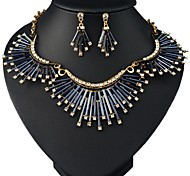 (1 Pc)European (Fashion Tube Beads) as Picture Alloy Necklace and Earring(Hualuo Jewelry)