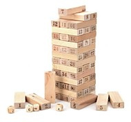 Wooden 1~48 Number Building Blocks Jenga Toy Set