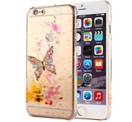 Color Butterfly Raindrop Pattern PC Hard Case for iPhone 6