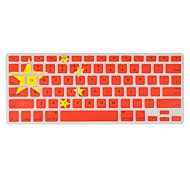 Angibabe  0.1mm Ultra-thin Silicon Transparent Chinese Flag Pattern Keyboard Cover for MacBook Air/Pro /Retina