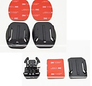 YouOKLight® Flat Mount  Helmet Curved Surface & Mount (3M Sticker) for GoPro Hero 3+/3/2/1   (7 Pcs Parts)