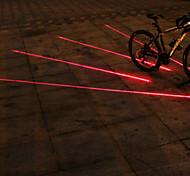 UNGROL 4 Red Straight Lines 1 Laser Module 6 LED 6 Flash Mode Black Bike Warning Laser Light