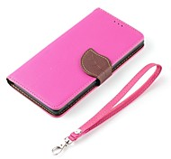 For Samsung Galaxy Case Card Holder / Wallet / with Stand / Flip Case Full Body Case Solid Color PU Leather Samsung Core