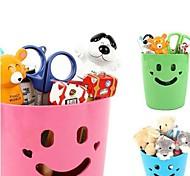 caixas sorriso plástico de armazenamento recipiente multifuncional (cor aleatória)