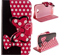 Bowknot Design Pu LeatW Case with Stand for LG L70