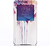 Fashion Design Pattern Open the Window Leather Cover with Stand for Samsung Galaxy Note 4