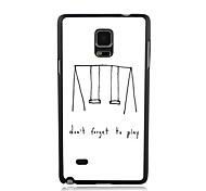 elonbo do't olvide de jugar la cubierta del caso plástico duro para Samsung Galaxy Note 4